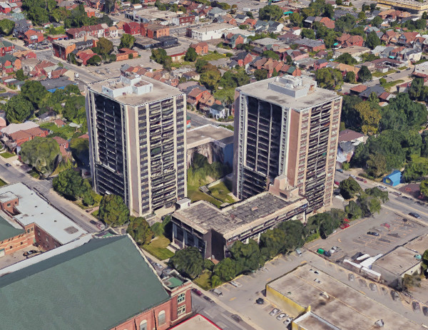 192 Hughson Street North (left) and 181 John Street North (Image Credit: Google Earth)