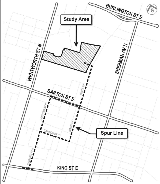 2012 staff recommendation for spur line to Wentworth facility