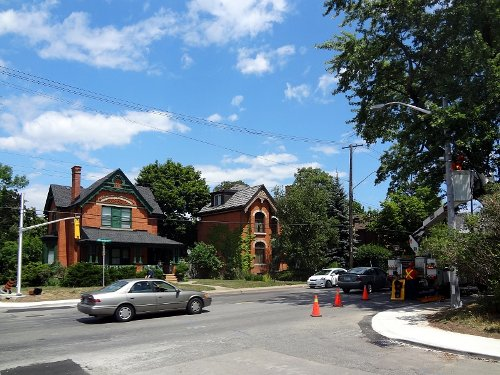 Work continues on a new pedestrian crossing at Aberdeen and Kent (RTH file photo)