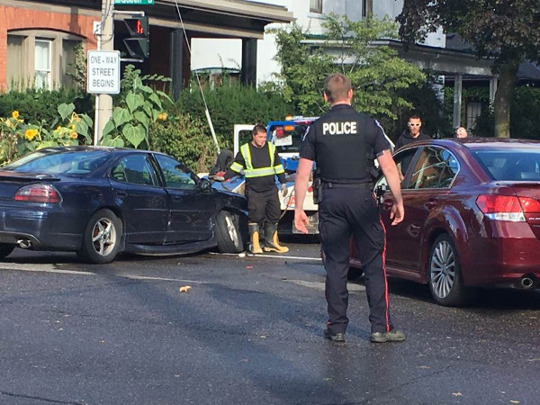 Serious collision at Aberdeen and Queen on September 19, 2017 (Image Credit: Maureen Wilson)