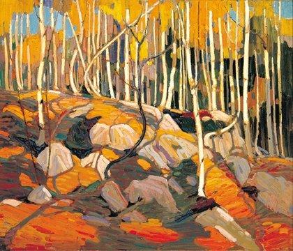 Tom Thomson, The Birch Grove, Autumn 1915-16; oil on canvas, Art Gallery of Hamilton, Gift of Roy G. Cole, in memory of his parents, Matthew and Anne Bell Gilmore Cole, 1967 (Photo Credit: Art Gallery of Hamilton)