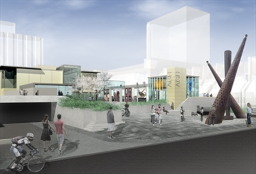Rendering: AGH presents friendlier face to Main Street