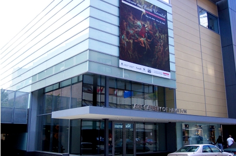 The AGH main entrance from King Street.