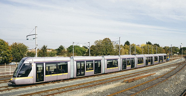 Alstom's Citadis Model 403 LRV for the streets of Dublin with a length of 55 metres (Image Credit: International Railway Journal)