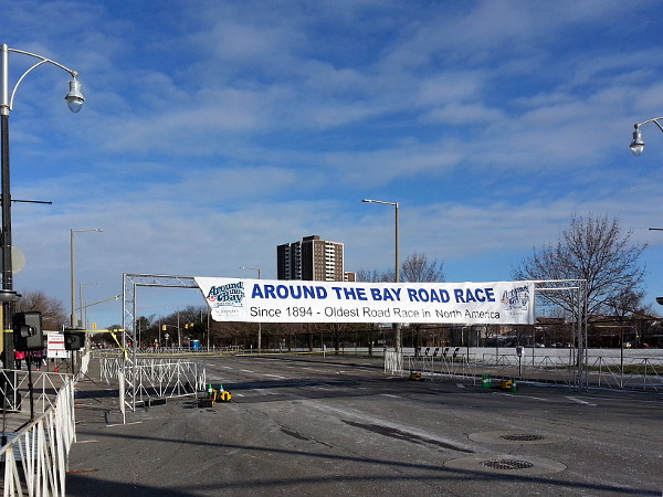 Around The Bay Road Race banner (RTH file photo)