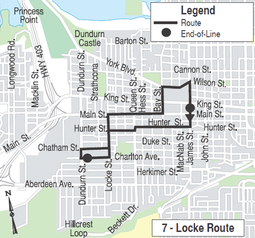 Proposed Locke route