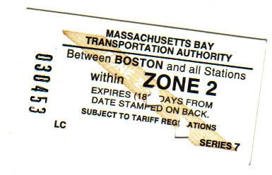 Boston Commuter Line: even the tickets are quaint