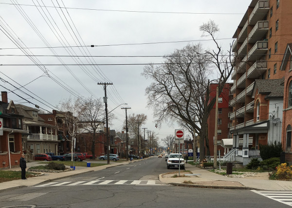 Looking north on Wentworth Street at Delaware (RTH file photo)