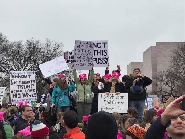 Various signs at the Women's March (Image Credit: Beth Blake)