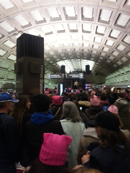 Crush capacity at Union Station (Image Credit: Sarah Wayland)