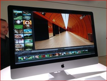 An Apple iMac: 'You've come a long way sister!'