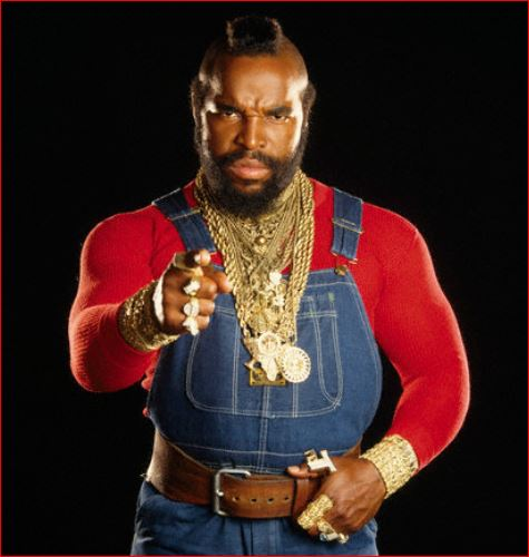 Mister T from The A-Team, aired from 1983-1987, a 4th gen program