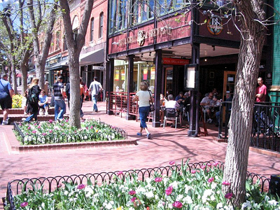Pearl Street Mall, Boulder, Colorado: What are those people doing on the street?