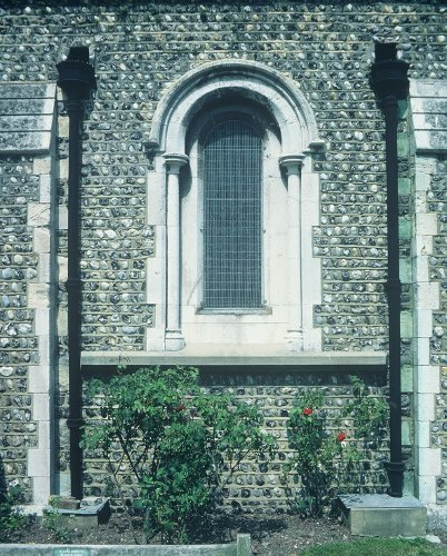 Fig. 3. Brighton (Sussex), UK, St Andrew's Church, exterior, detail of S aisle.