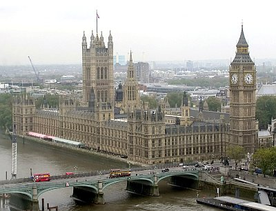 Figure 3: the British Houses of Parliament, built in Victorian Gothic style. (Image Source: Wikipedia)