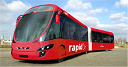 Rapid Bus in Austin, Texas