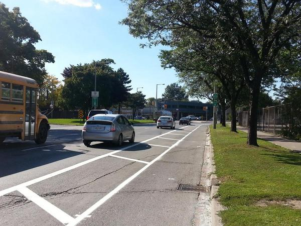Buffered bike lane on York (RTH file photo)