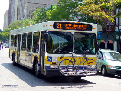 HSR bus with a bicycle on the rack (RTH file photo)