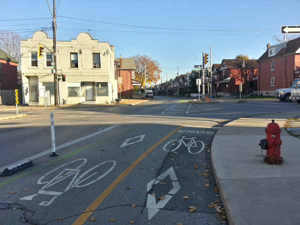 Cannon Cycle Track ends at Sherman