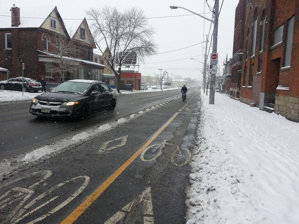 Cannon Cycle Track cleared of snow on December 11