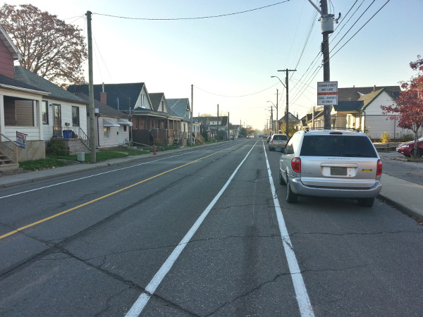 new cannon bike lanes between gage and britannia raise