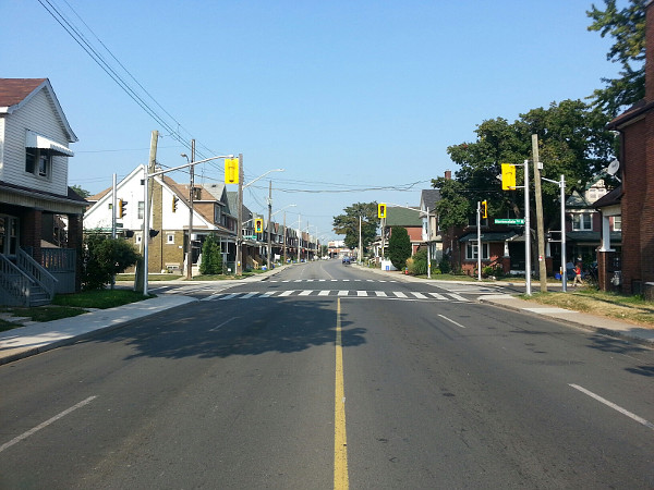 Cannon looking west at Barnesdale