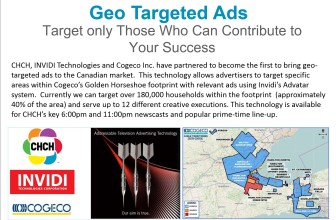 Geo Targeted Ads map from CHCH's current media kit (Image Credit: CHCH)