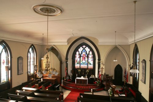 Fig. 8. Chippawa, Holy Trinity Anglican Church, interior to E.