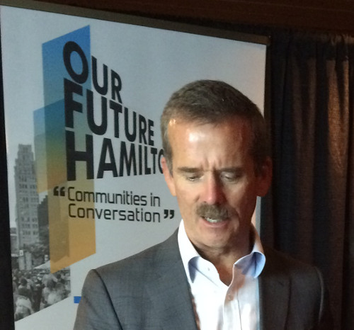 Chris Hadfield at the Our Future Hamilton event (Image Credit: Tadhg Taylor-McGreal)