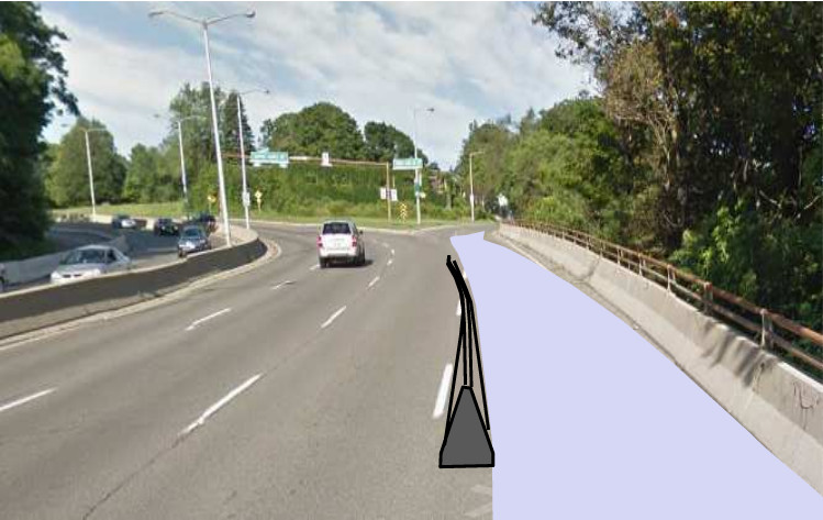 Initial rendering of protected Claremont Access Cycle Track