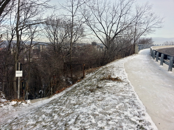 Claremont Access extension connecting to Bruce Trail Stairs