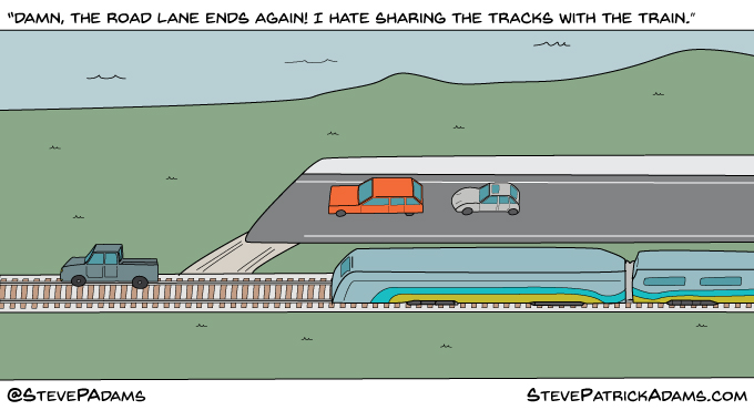 If we treated car lanes like we treat bike lanes
