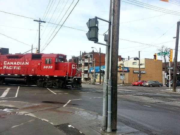 CP train crossing at Main and Gage (RTH file photo)