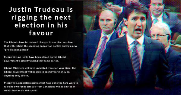 Screenshot from Conservative Party of Canada website