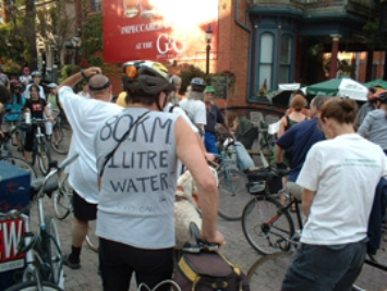 Critical Mass ride in Hess Village,