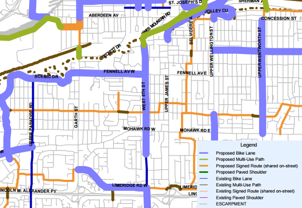 Bike lanes planned for West 5th in Cycling Master Plan