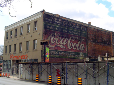 Coca-Cola sign on the Denningers building (Photo Credit: Jason Leach)