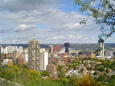 Downtown seen from the escarpment