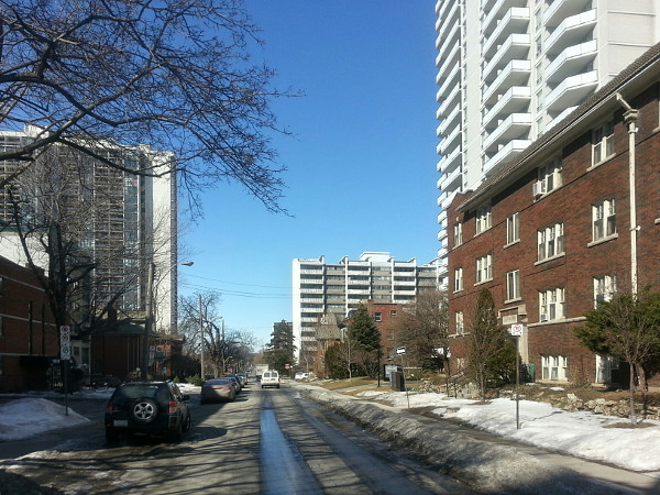 Duke Street facing west from MacNab Street (RTH file photo)