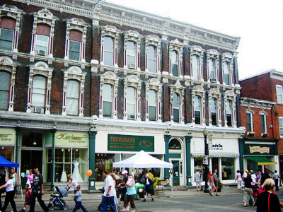 King Street, Dundas: Density, mixed uses, and people create an urban space (RTH file photo)