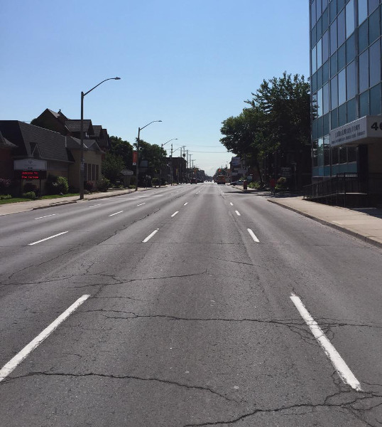 Main Street East between Erie and Ontario (RTH file photo)