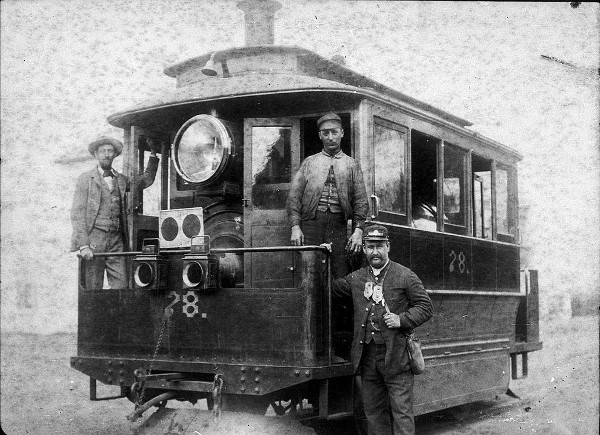 Early steam tram