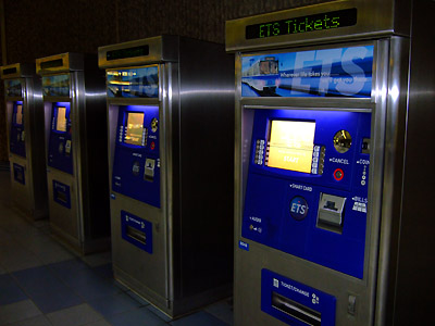 Edmonton LRT ticket vending machines