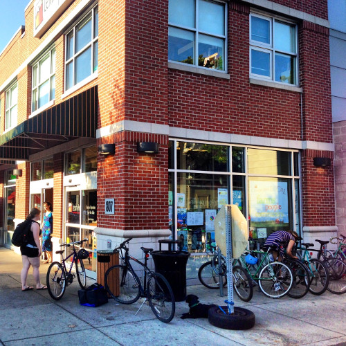Bike parking at the Lexington Food Co-Op