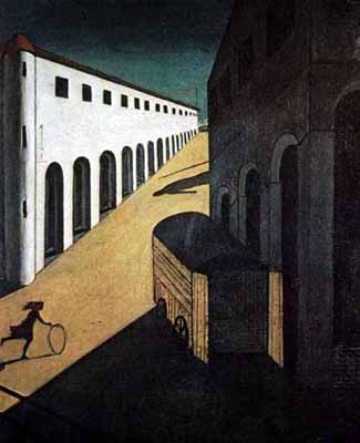 Giorgio De Chirico's 'Melancholy and Mystery of the Street.' (Photo Credit: Wikipedia.org)