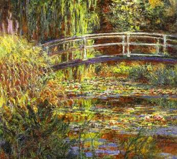 Claude Monet. The Water Lily Pond; Pink Harmony.