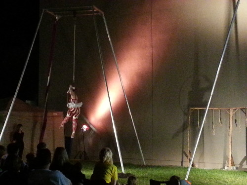 Aerial ring performance during the evening showing of The Hangman's Reprise