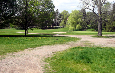 Looking west on the Glenside path across Chedoke Golf Course (Photo Credit: Ted Mitchell)