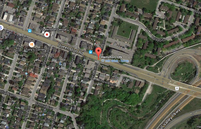 Queenston Road and Reid Avenue (Image Credit: Google Maps)