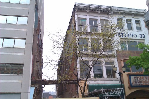 Demolished building at 30 King Street East